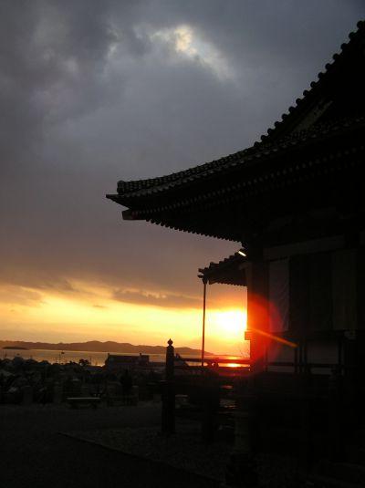 那古観音からの夕日