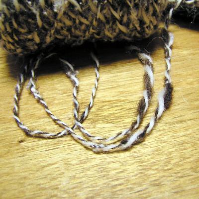 紡いだ毛糸