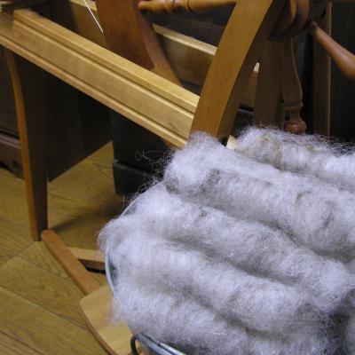 紡毛用に纏める