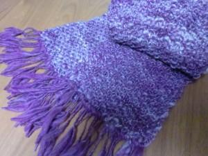 鹿の子編みのマフラー