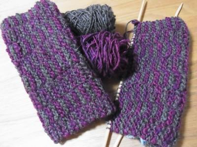 ガーター編みの応用です