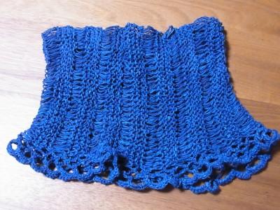 手紡ぎ綿糸のネックウォーマー