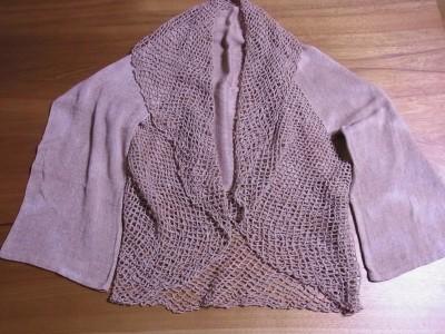 茶綿の紡ぎ糸で