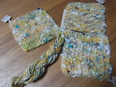 糸見本と編みスゥオッチ
