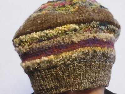 鉤針編みの帽子